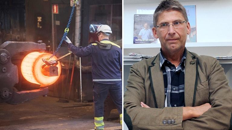Jan Moström och stålarbetare