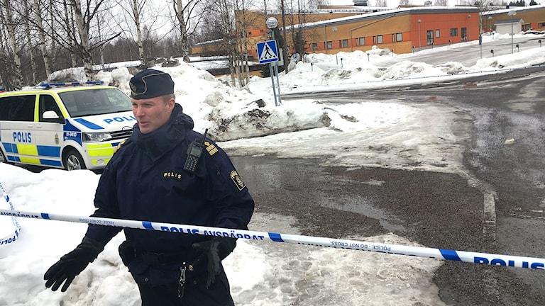 Patrik Ström, poliskommissarie vid polisen, Region Nord.