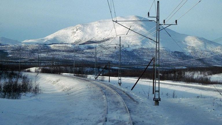 Malmbanan till Narvik. Foto: Johan Wallqvist/Sveriges Radio.