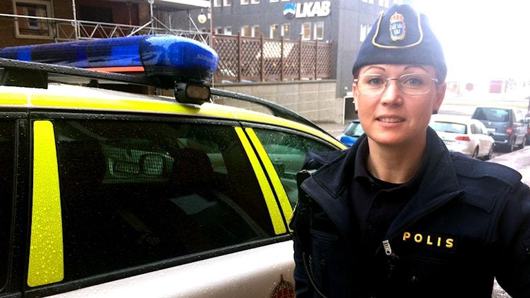Jennifer Olovsson, yttre befäl hos polisen i Norrbotten.