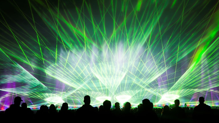 Lasershow i Berlin.
