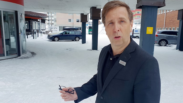 Peter Salomonsson, hotelldirektör på Scandic Ferrum i Kiruna.