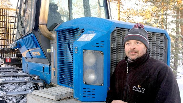 Mattias Olsson, skogsägare i Bälinge utanför Luleå.