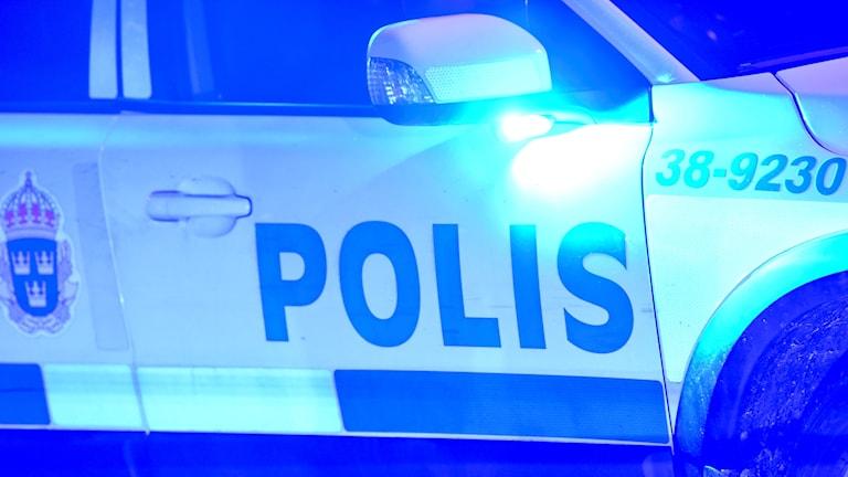 Polisbil. Foto: Fredrik Sandberg/TT