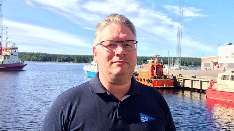Henrik Vuorinen, hamnchef i Luleå.