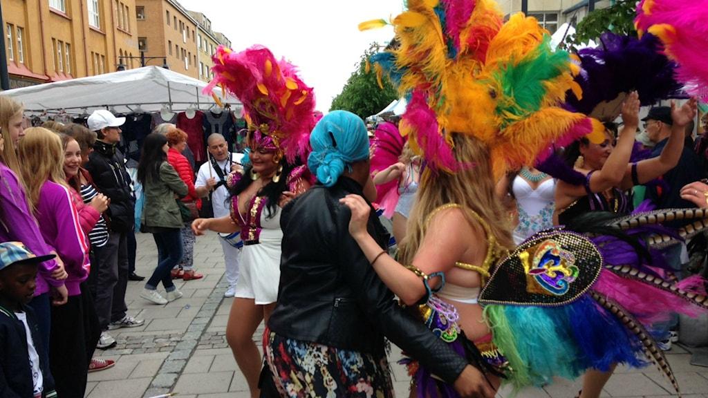 Karnevalen under hamnfestivalen i Luleå 2015