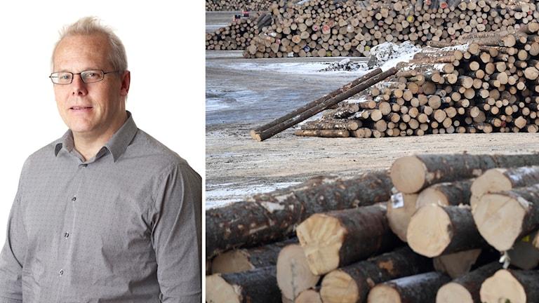 Mats Kinnwall och sågverk.