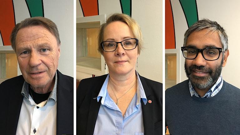 Inge Andersson (S) kommunalråd i Boden, Maria Stenberg (S), regionråd och Fredrik Hansson, ordförande i socialnämnden Luleå.