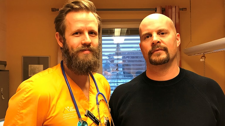 Erik Degermark, AT-läkare, och Peter Öhman, verksamhetschef på hälsocentralen i Arvidsjaur.