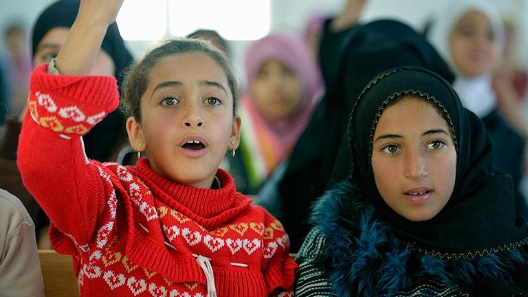Undervisning med Svenska kyrkan i Jordanien.