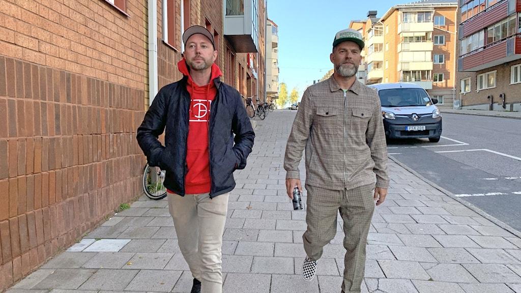 Daniel Holmgren, fotograf och musiker i bandet Raised Fist och Mikael Lindgren, företagare i Luleå.