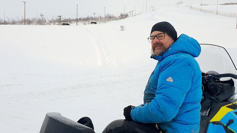 Toni Franz är driftchef i Luossavaarabacken i Kiruna.
