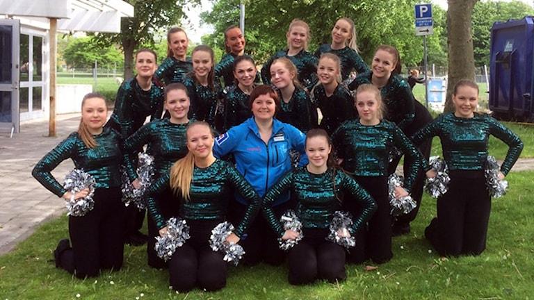 LF Stars från Luleå efter att de genomfört sitt program vid SM 2016.