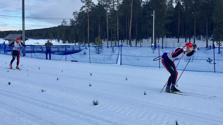 Andreas Nygaard vinner Nordenskiöldsloppet före Öyvind Moen Fjeld.