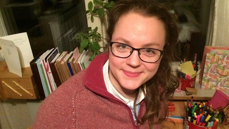 Moa Günes, lärarstuderande och metor för klass 5A på Mariaskolan i Gällivare
