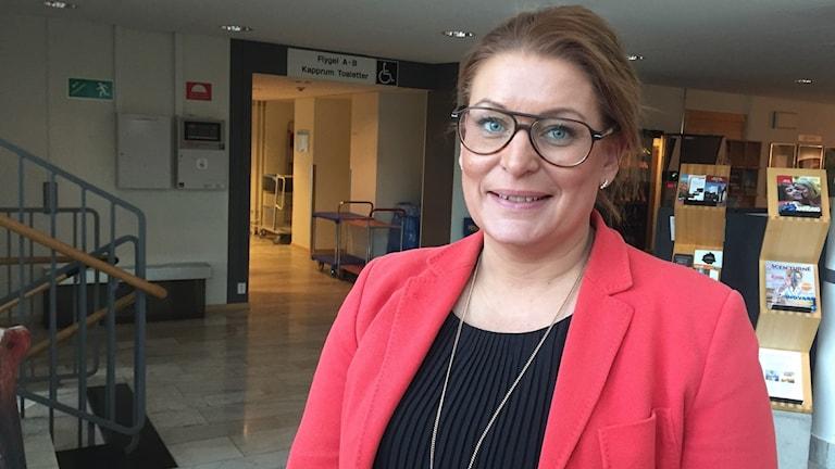 Regionrådet Linda Frohm, Moderaterna.