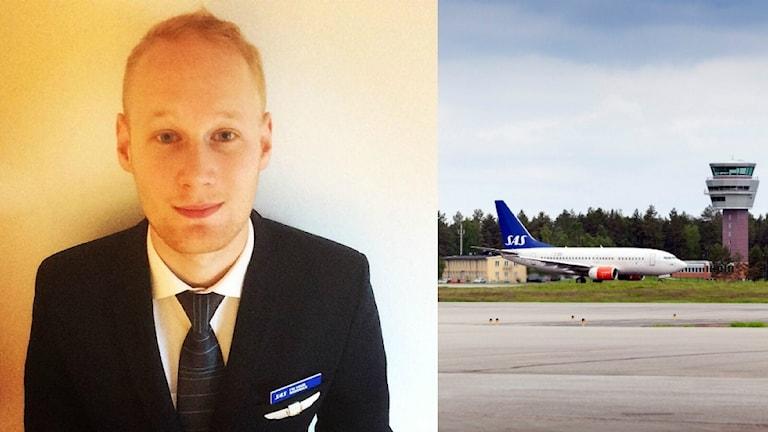 Dennis Barvsten är flygvärd på SAS.