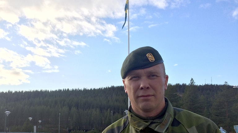 Mathias Holmqvist, chef på Arméns Jägarbataljon.