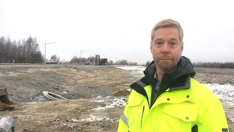 Patrik Callgren, projektledare för arbetena på väg 97.