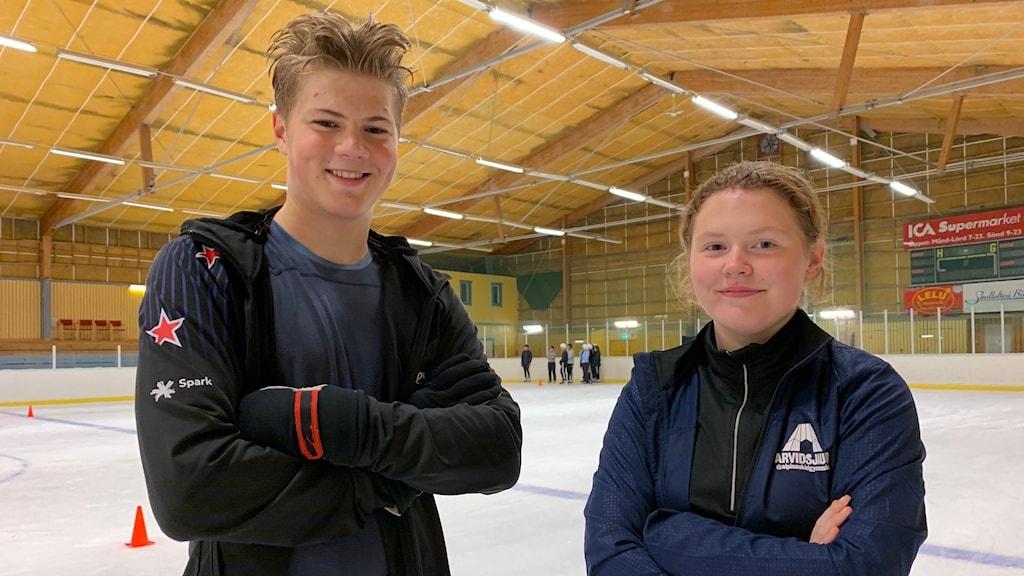 Emilia Lundqvist och Jonathan Öman.