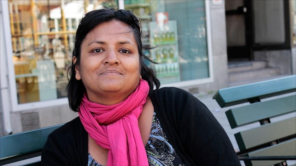 Nina Berggård i Vänsterpartiet Luleå. Foto Stig-Arne Nordström/Sveriges Radio.