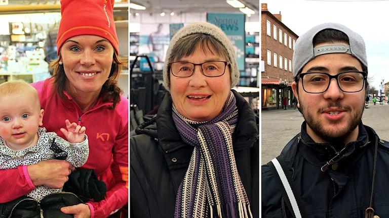 Johanna Øygard, Anita Wessling och Yousef Alkhatib tycker alla till om Göransson Arena.
