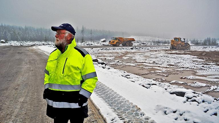 """""""Det här var vår jaktmark"""", säger Göran Bergen i Stackbo. Nu förvandlas den till industriområde."""