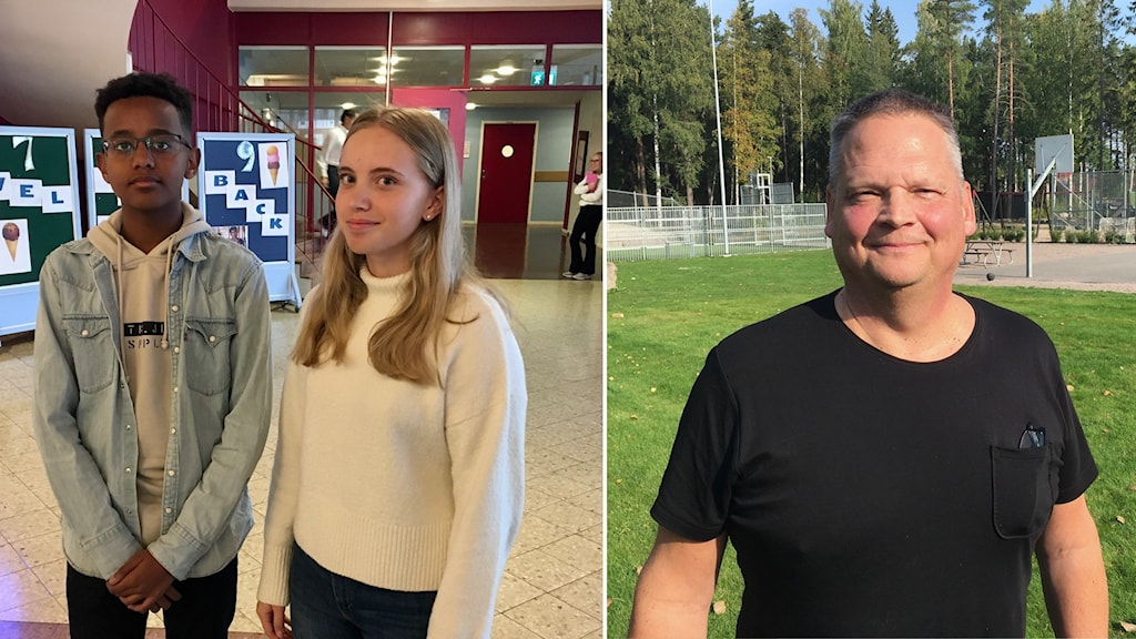 två elever och en rektor