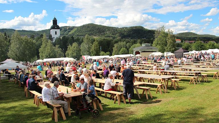 Folk har börjat anlända till festivalen.