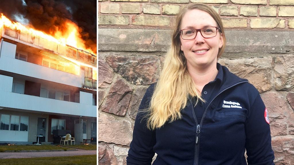 Emma Axelsson, verksamhetsstrateg på Gästrike Räddningstjänst, om ökade antalet dödsbränder.