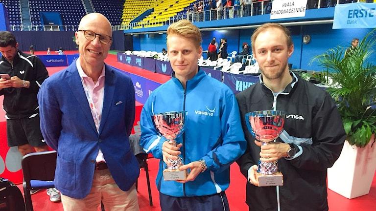 Hampus Nordberg och Viktor Brodd från en tidigare turnering i Kroatien.