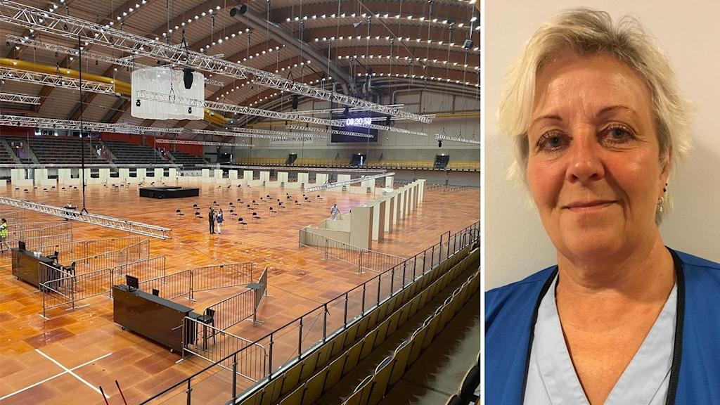 Höger Göranssons arena, höger en kvinna.