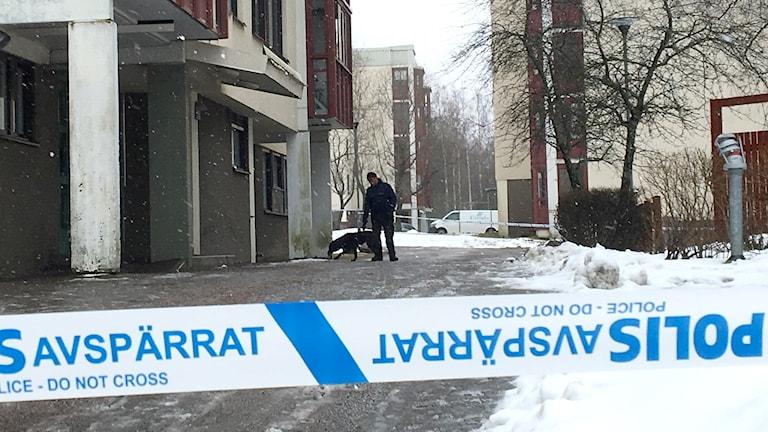Polisens hundförare Jörgen Mattsson skottlossning Sätra. 7301c4da1b968