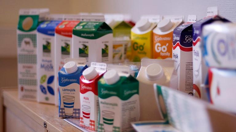 Mjölkpaket. Foto: Fernando Arias SR Gävleborg
