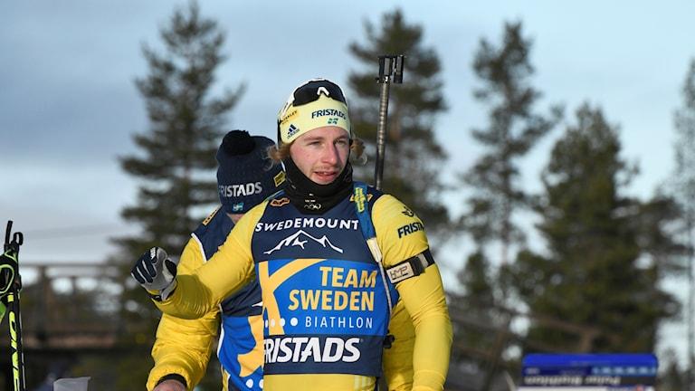 Bild från när Peppe Femling tränar i Idre med Skidskyttelandslaget.