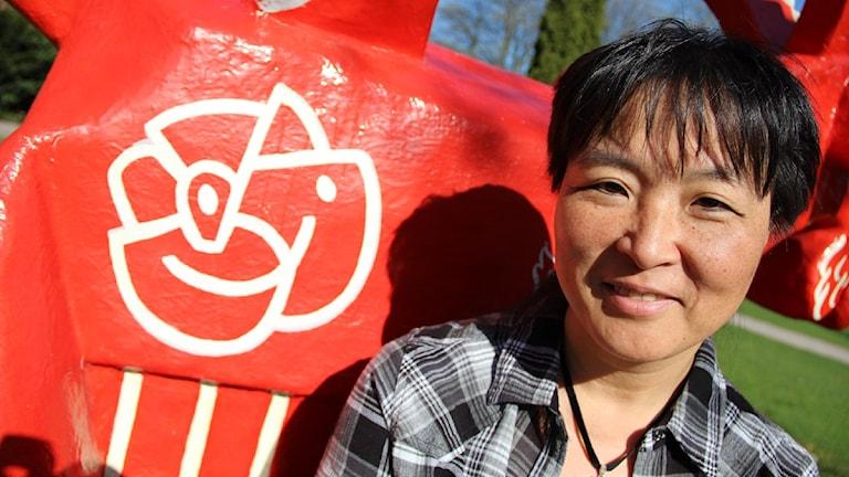 Yoomi Renström, distriktsordförande för Socialdemokraterna. Foto: Magnus Hansson / Sveriges Radio