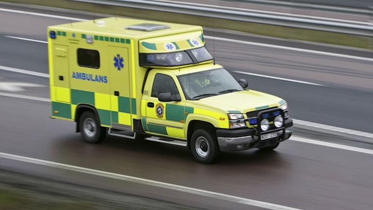 Ambulansutryckning. Foto: Fredrik Sandberg / Scanpix