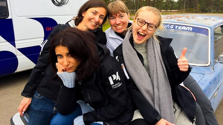 Lyssnaren Susanne vann över programledarna Wenda, Natalie och Martina i körtävlingen på Fönebasen i Färila.