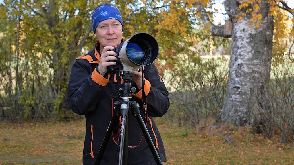Naturguide och fotograf Sara Wennerqvist i Kungsberget