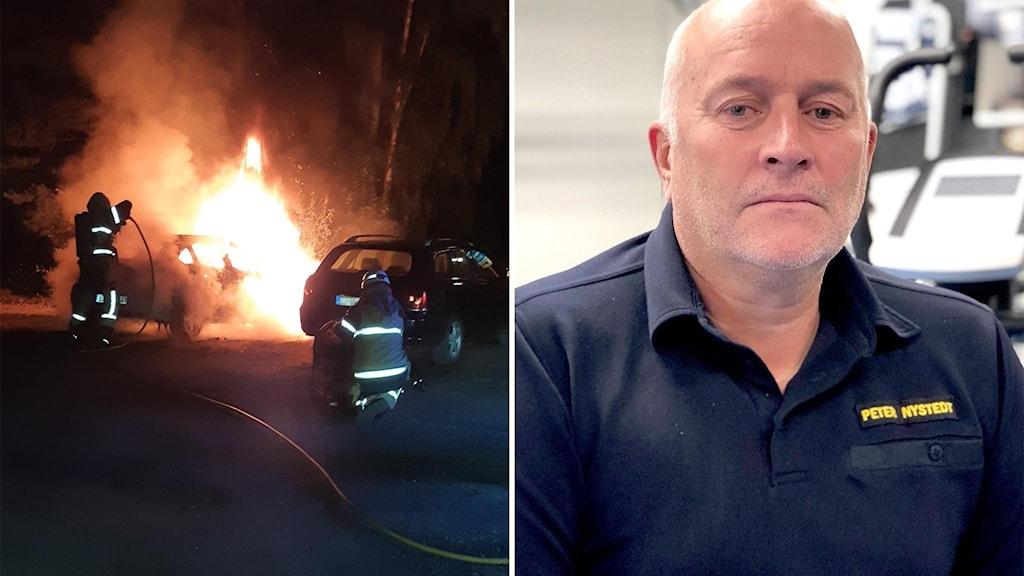 Bilbränderna i Ljusdal oroar Räddningschefen Peter Nystedt.