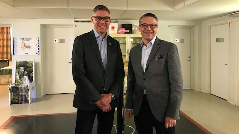 Göran Hägglund och Henrik Holm.