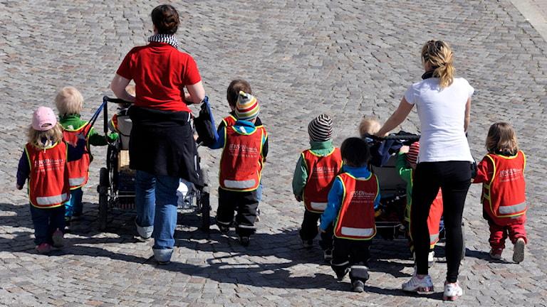 I Söderhamn har alla barn rätt till heltid på förskolan.