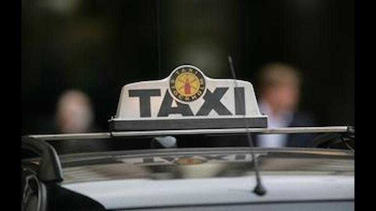 Taxi arkivbild.