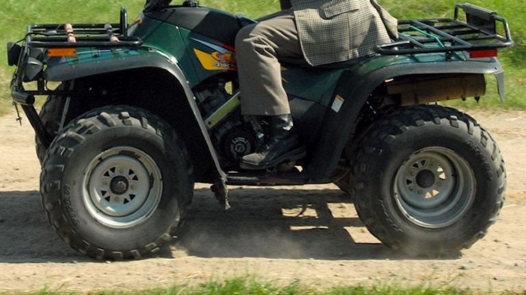 Fyrhjuling arkivbild