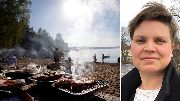 Grillning på stranden Johanna Hedberg