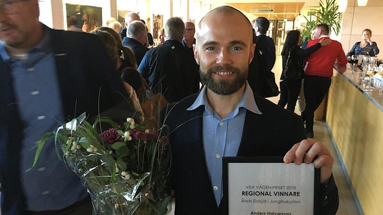 "Anders Halvarsson blev tilldelad ""Visa vägen-priset"" på Konserthuset i Gävle."