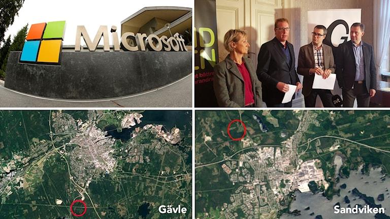 Microsoft köper mark från Sandviken och Gävle.