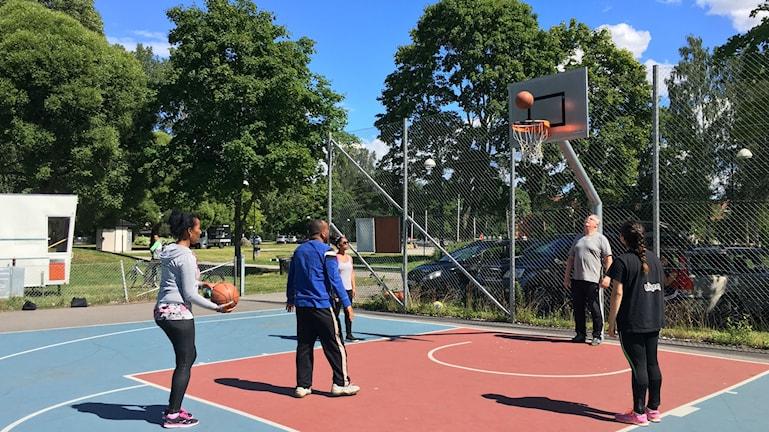 Basket är en sommarlovsverksamhet för ungdomar som är hemma på sommaren.