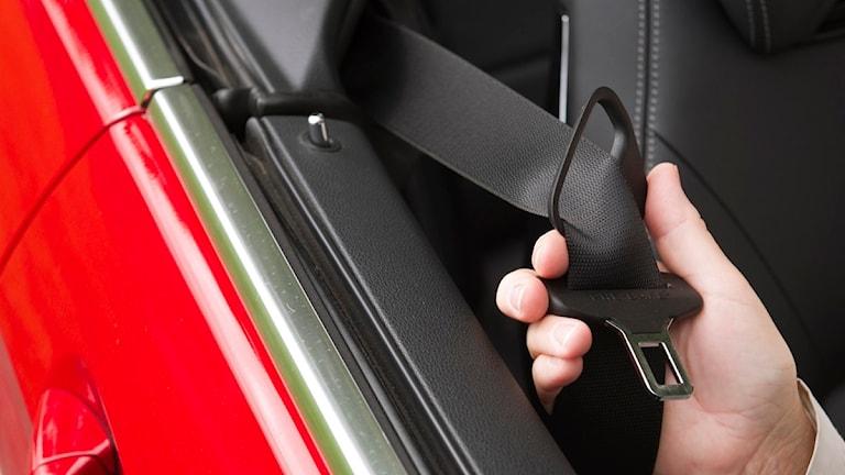 Gävleborgs län är dåliga på att använda bilbälte. Foto:Scanpix