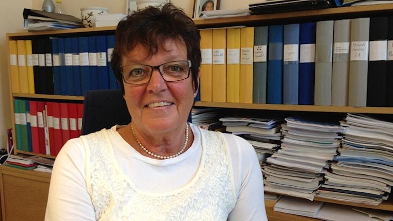 Inger Källgren Sawela, oppositionsråd för Moderaterna i Gävle kommun. Foto: Love Liman / Sveriges Radio